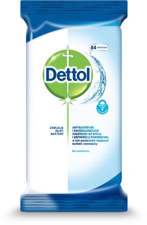 Dettol čistilni robčki, antibakterijski, 84 kosov