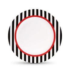 REMEMBER® Porcelánový talíř Black Stripes, 21 cm