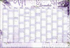 Kalendář nástěnný jednolistový roční – Levandule