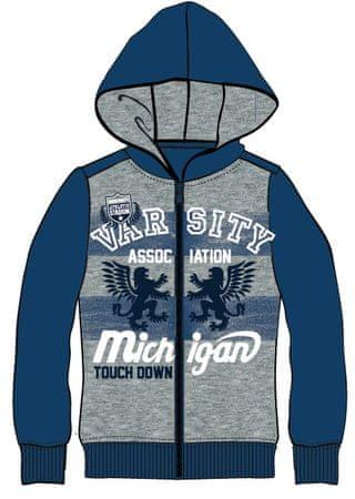 Mix  n Match chlapecká mikina s nápisy 98 šedá modrá  c47c5752c4