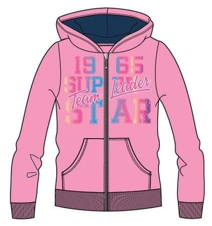 Mix 'n Match dekliški pulover z zadrgo z napisom, 98, roza