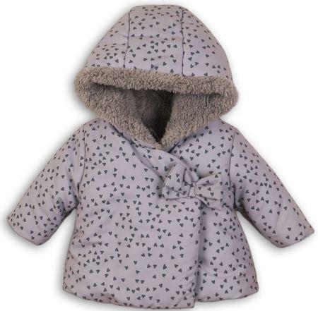 Minoti Lány szívecskés kabát 56 - 62 szürke