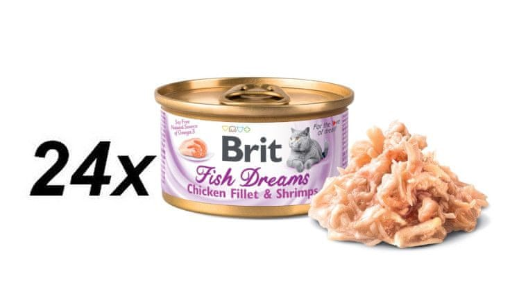 Brit Fish Dreams Chicken fillet & Shrimps 24x80g