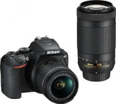 Nikon D3500 + 18-55 + 70-300 + Cashback 2500 Kč!