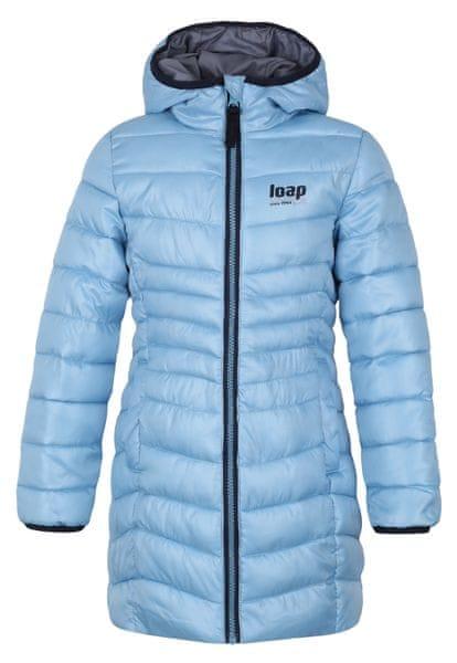 Loap Dívčí zimní kabát Ikima 122/128 světle modrá