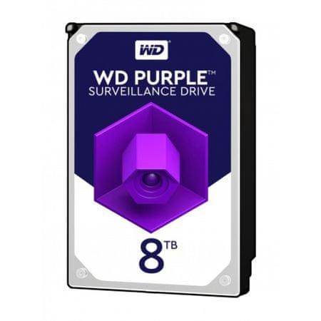 """WD trdi disk Purple 8 TB, 8,89 cm (3,5""""), SATA3, 5400, 256 MB (WD81PURZ)"""