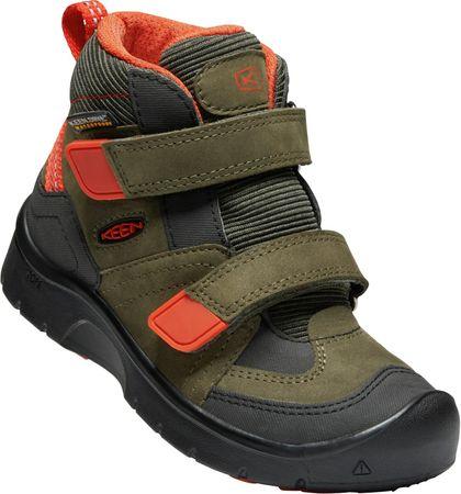 KEEN fantovski gležnjarji Hikeport Mid Strap WP, siva/olivna/oranžna, 24