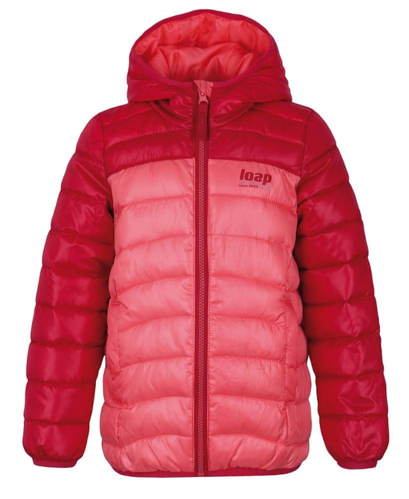 Loap dětská zimní bunda Imego 134/140 oranžová