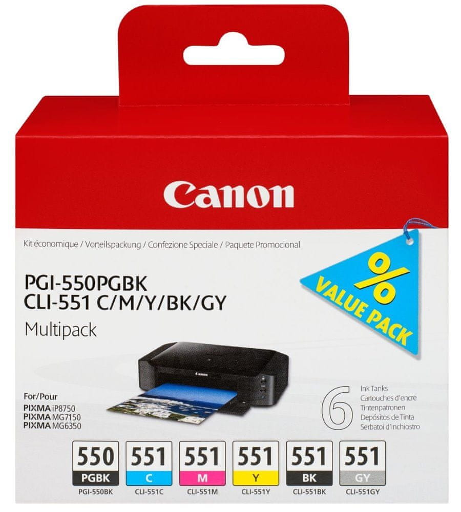 Canon PGI-550 + CLI-551, multipack (6496B005)