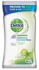 Dettol Antibakteriális felület tisztító törlőkendő Lime és Menta 36 db.