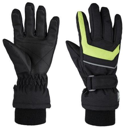Loap dětské zimní rukavice Renko 6 černá/zelená