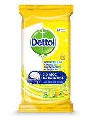 Dettol Antibakteriális felület tisztító törlőkendő Citron és Limeta 36 db.