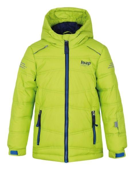 Loap chlapecká lyžařská bunda Falda 134/140 zelená