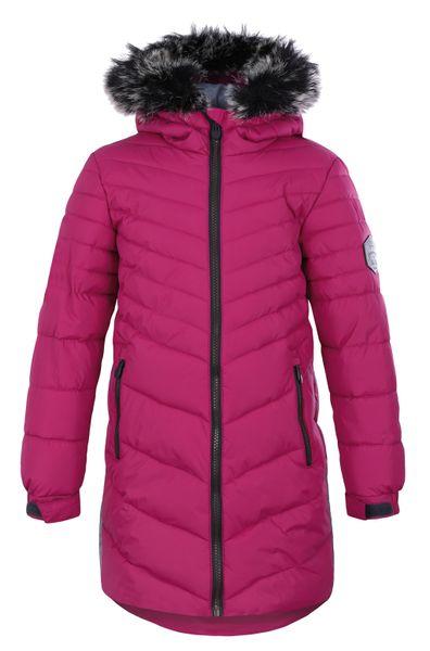 Loap dívčí zimní kabát Oksara 112/116 růžová