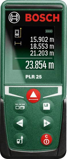 Bosch laserový dálkoměr PLR 25 0603672521