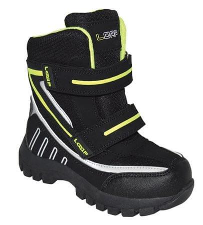 Loap chlapčenské zimné topánky Sillo 29 čierna/zelená
