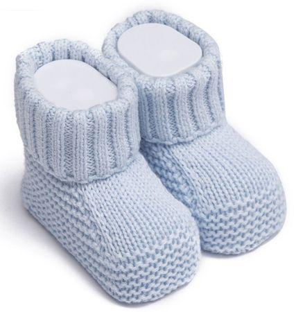 Kitikate Chlapčenské capačky / ponožky pletené 50 - 56 modrá
