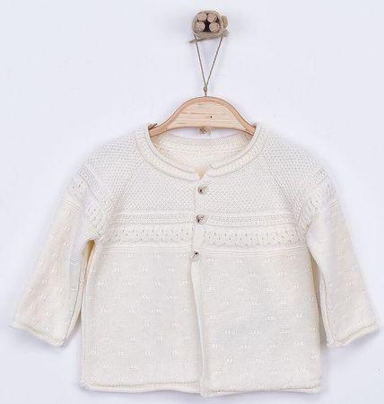 Kitikate Dětský pletený svetřík vzorovaný 56 béžová