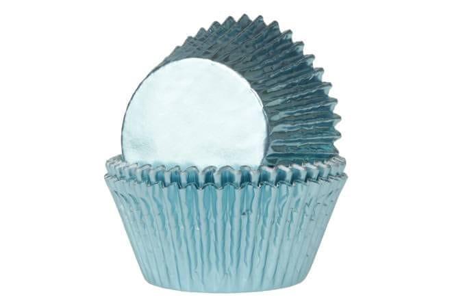 House of Marie Košíčky na muffiny LESKLÉ světle modré 24 ks