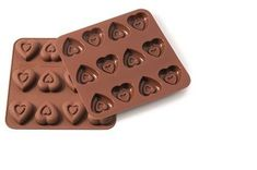 Silikomart Silikonová forma na čokoládu – srdíčka s reliéfem srdcí