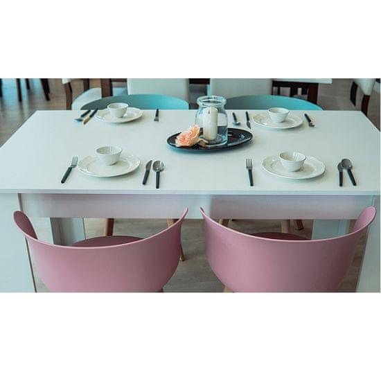 KONDELA Tomy jedálenský stôl 140x80 cm biela