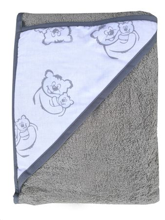 COSING brisača 320g/m2, 100 x 100 cm, siva