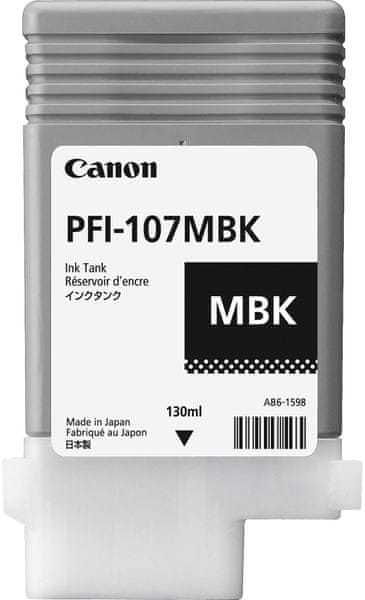 Canon PFI-107MBK, černá (6704B001)