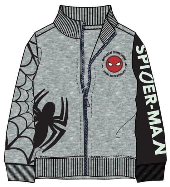 b36df9081e1 Disney by Arnetta chlapecká mikina Spiderman 110 šedá