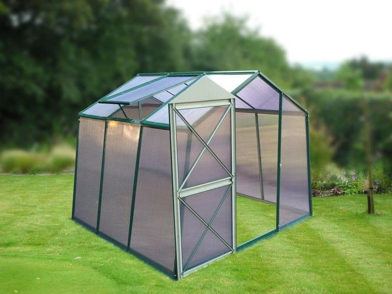 LanitPlast skleník LANITPLAST DODO 8x7 - DÁRKY PC 4 mm zelený