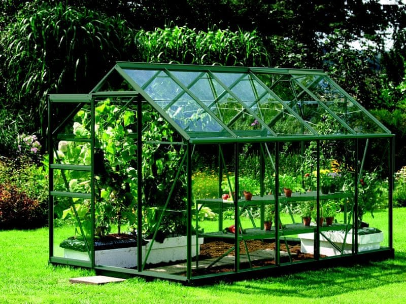 VITAVIA skleník VITAVIA VENUS 6200 čiré sklo 3 mm zelený