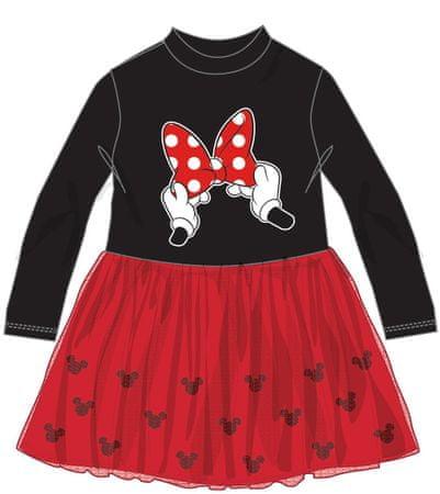 Disney by Arnetta dekliška obleka Minnie, 104, črno rdeča