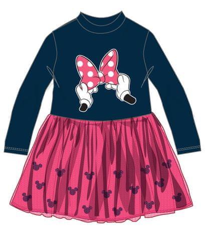 Disney by Arnetta dekliška obleka Minnie, 110, modro roza