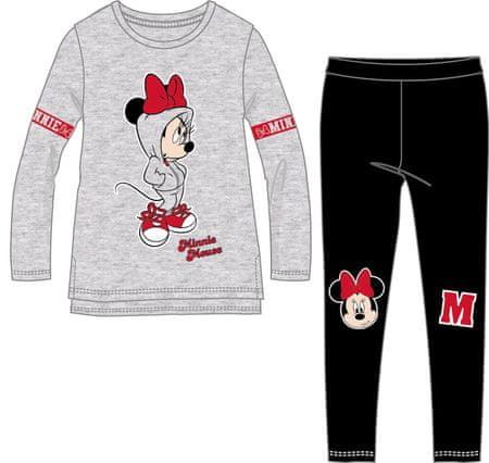 Disney by Arnetta komplet dekliške majice in pajkic, 98, črno siv