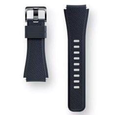 Samsung silikonski pašček gear S3 R760 in R770, črn