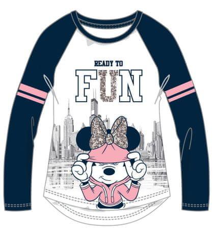 Disney by Arnetta majica Minnie, plavo bijela, 98