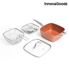 Ceramic Blade Copper InnovaGoods 5 az 1-ben univerzális serpenyő készlet (4db)