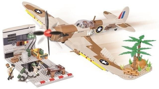 Cobi 5546 Small Army Stíhací letoun Supermarine Spitfire MK.IX HANGÁR IIWW