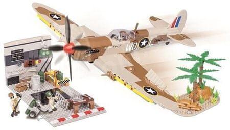 Cobi SMALL ARMY II WW Supermarine Spitfire Hangár
