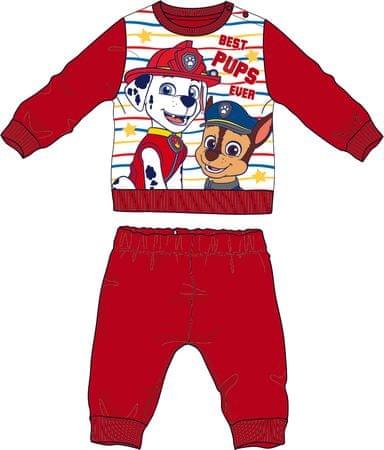 Disney by Arnetta deška pižama Paw Patrol, 80, rdeča