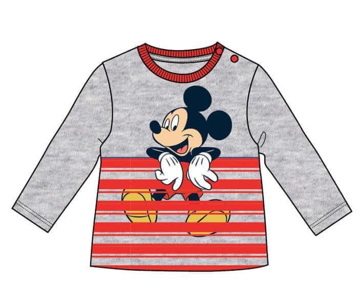 e35b4c92b5fd Disney by Arnetta chlapecké tričko Mickey Mouse 86 šedá červená