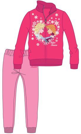 Disney by Arnetta dievčenská tepláková súprava Frozen 98 ružová
