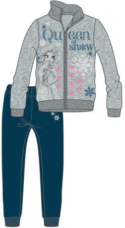 Disney by Arnetta dívčí tepláková souprava Frozen 98 sivo-plava