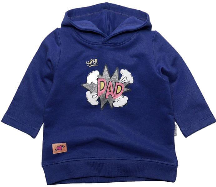Gelati Dívčí mikina Super Dad 92 modrá