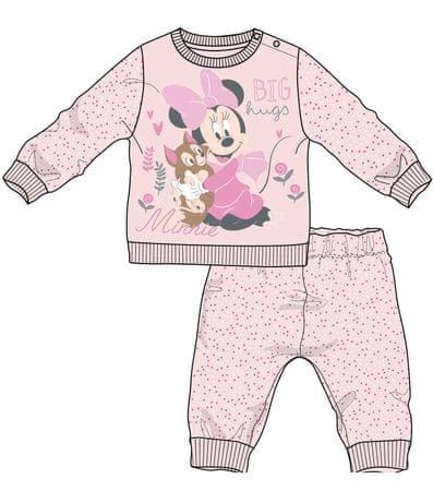 Disney by Arnetta dívčí pyžamo Minnie 80 svetlo ružová