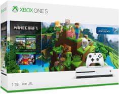 Microsoft Xbox One S 1TB + Minecraft Complete