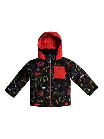 Quiksilver deška bunda Little Miss JK K, 3, črno rdeča