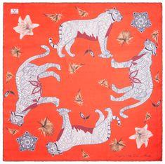 VERSACE 19.69 ženski šal Wild Leopard  rdeč