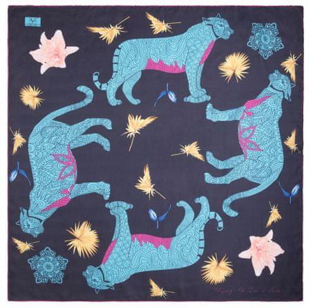 VERSACE 19.69 dámský čierný šátek Wild Leopard