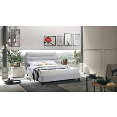 Manželská posteľ, sivý melír, 180x200, MAJESTIK