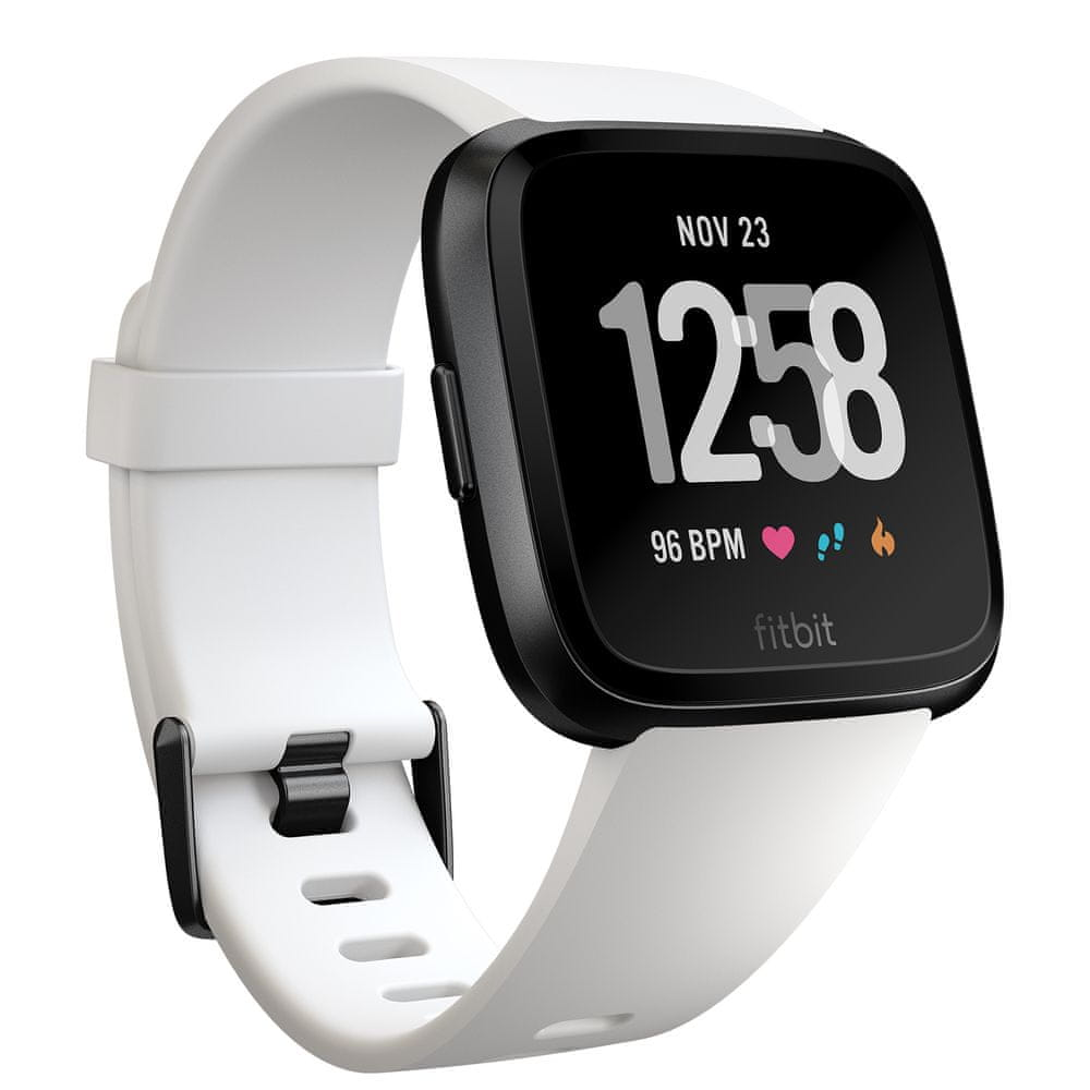 Fitbit Versa - Black / White Aluminum